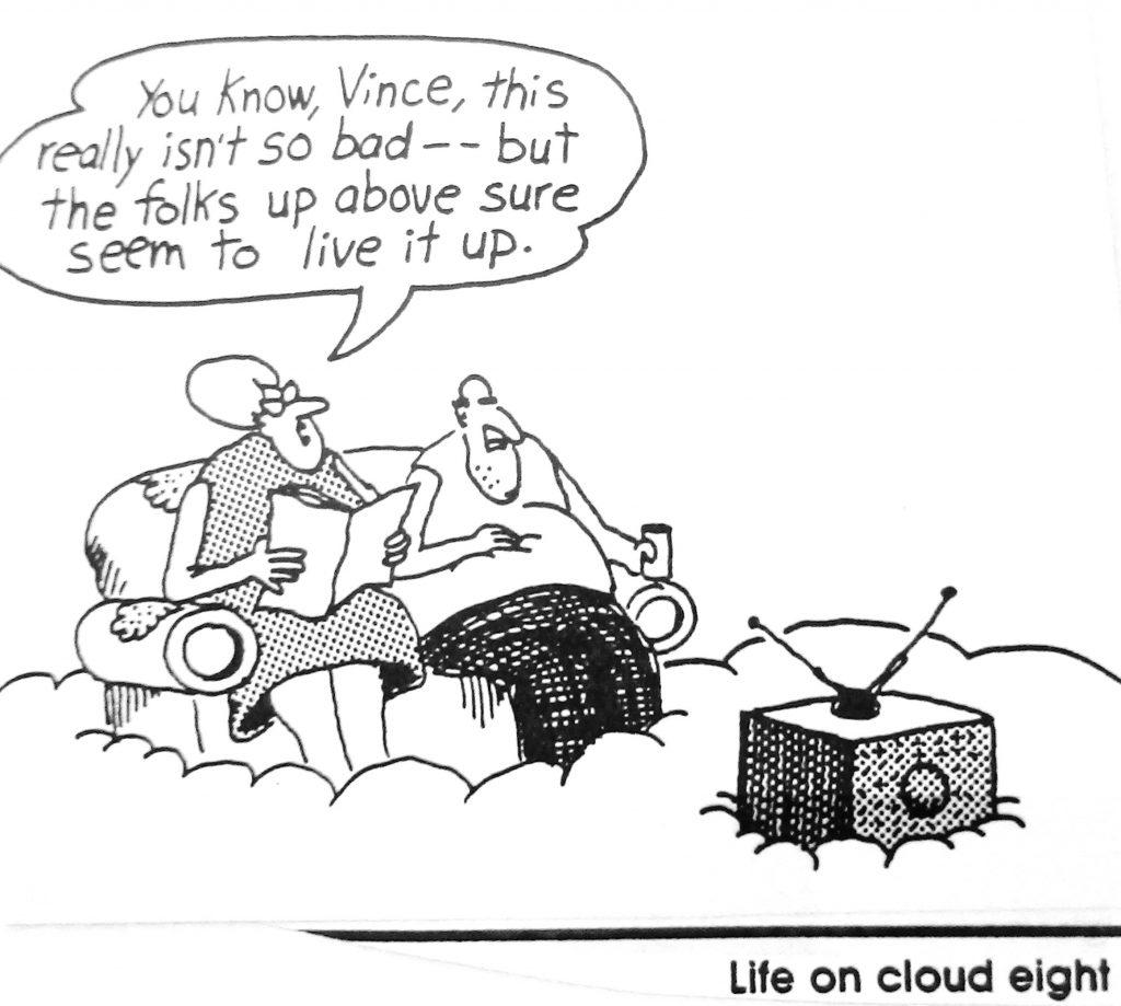 Cartoon Lite On Cloud Eight