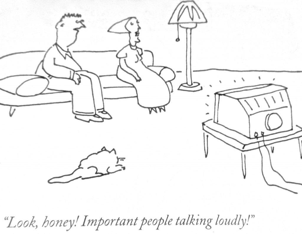 Cartoon Look Honey Important People Talking Loudly