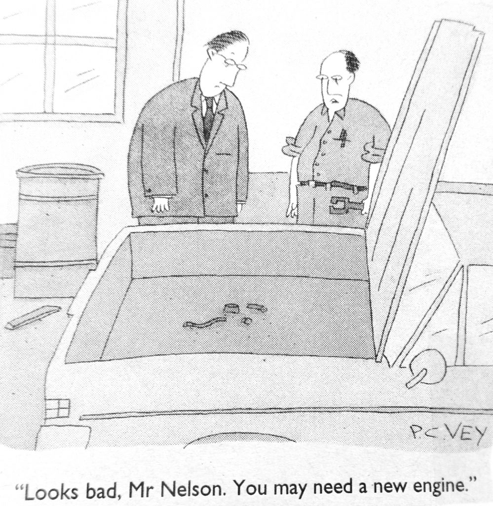 Cartoon Looks Bad Mr Nelson You May Need A New Engine