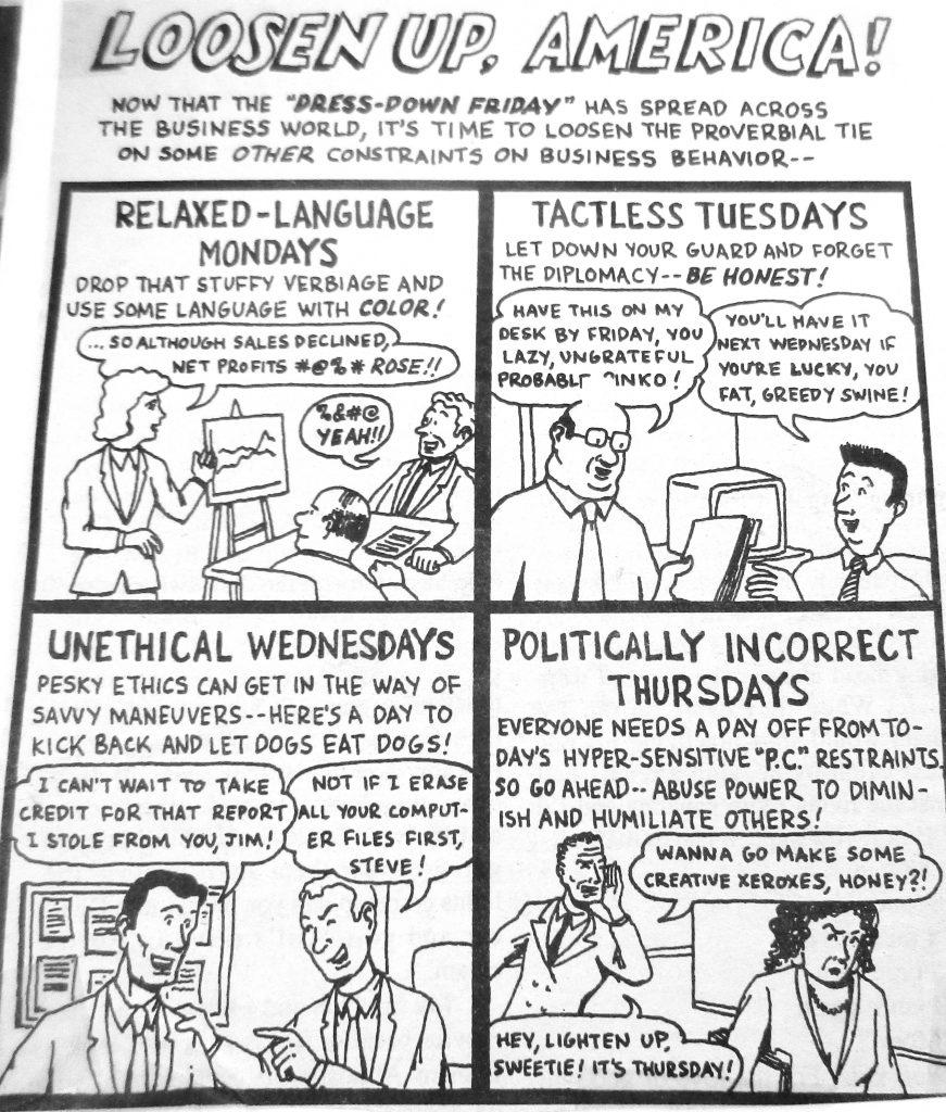 Cartoon Losen Up America Politically iIncorrect