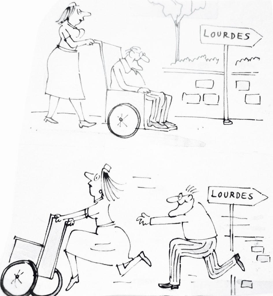 Cartoon Lourdes