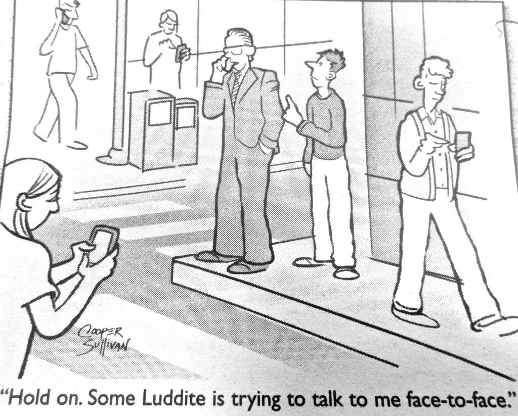Cartoon Luddite