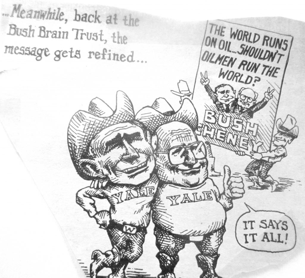 Cartoon Meanwhile Back At The Bush Trust The Message Gets Refined