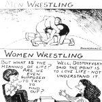 Cartoon – Wrestling… Men Vs Women