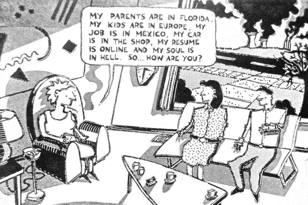 Cartoon My Parents Are In Florida My Kids Are iIn Europe