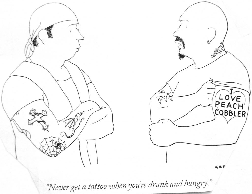 Cartoon Never Get A Tattao When You Re Drunk And Hungry