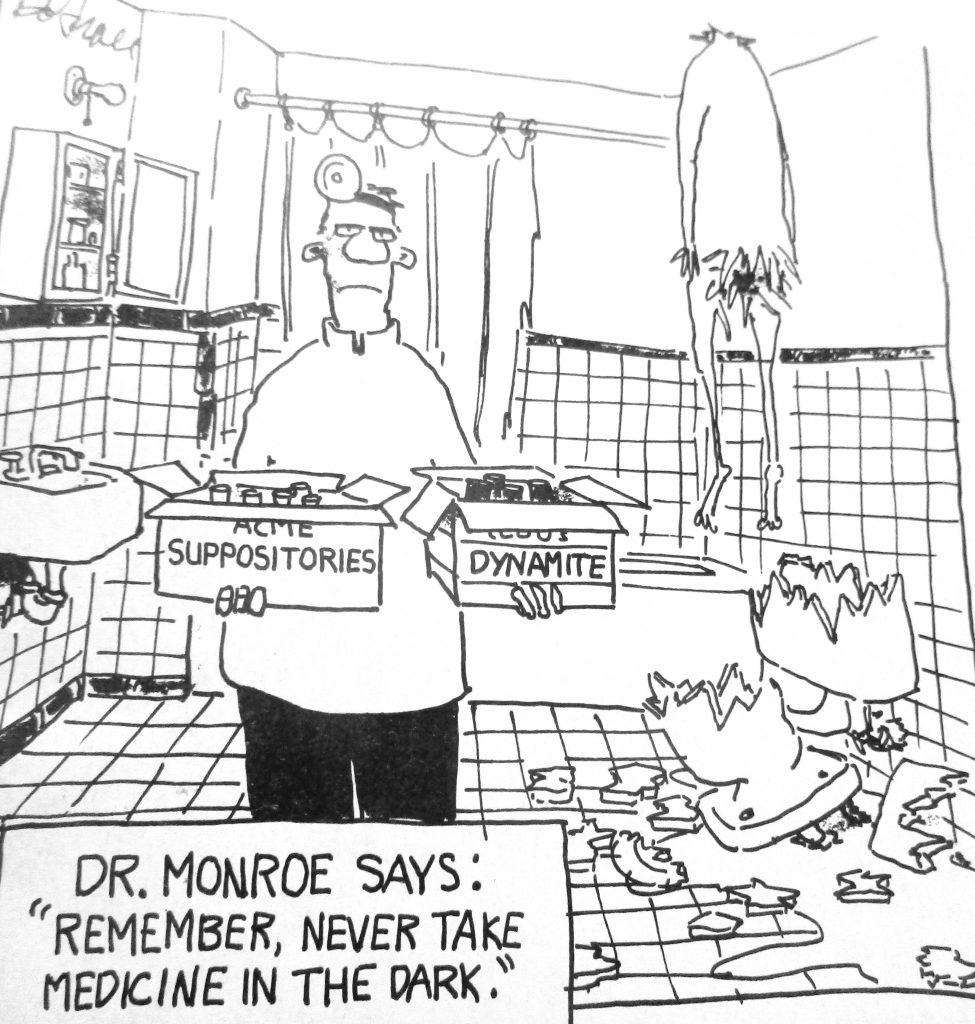 Cartoon Never Take Medicine In The Dark