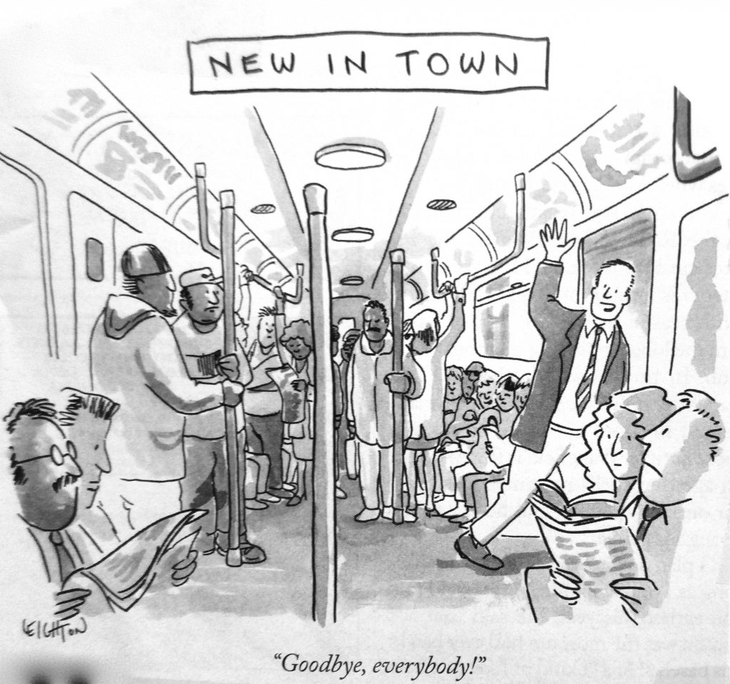 Cartoon New In Town Good by Everybody