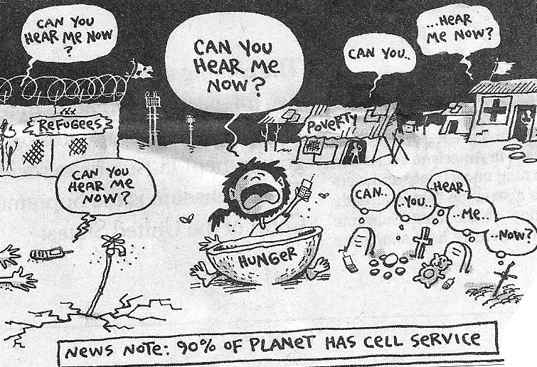 Cartoon News Note Of Planet Has Call Service
