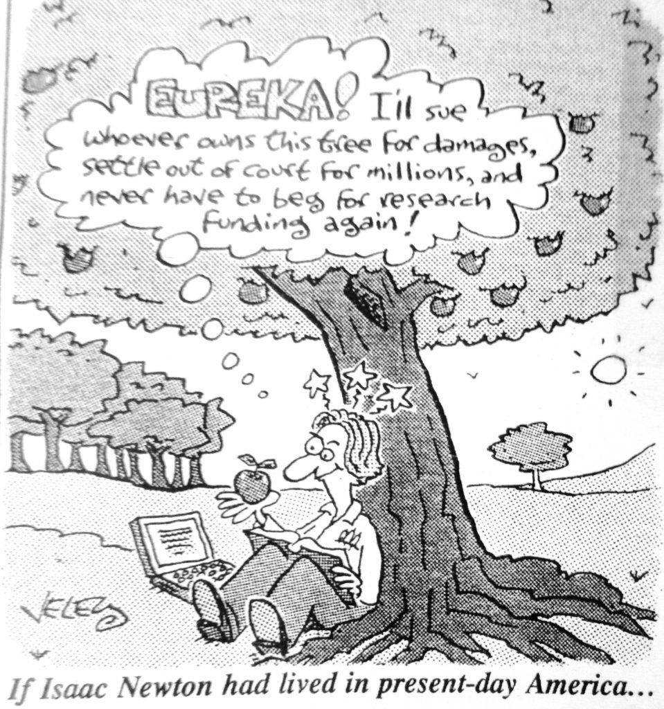 Cartoon Newton Had Lived Day Americs