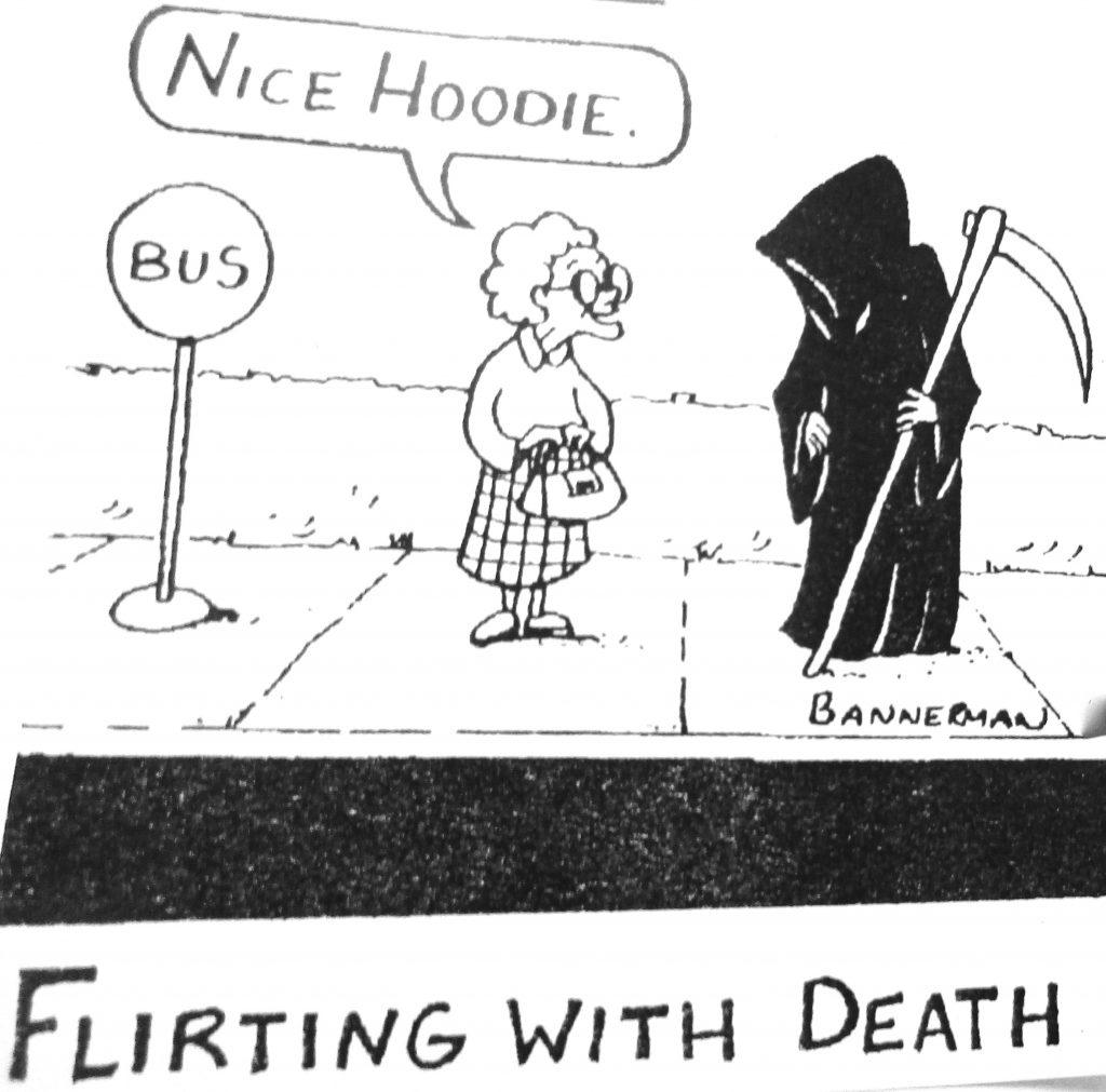 Cartoon Nice Hoodies Flrting With Death