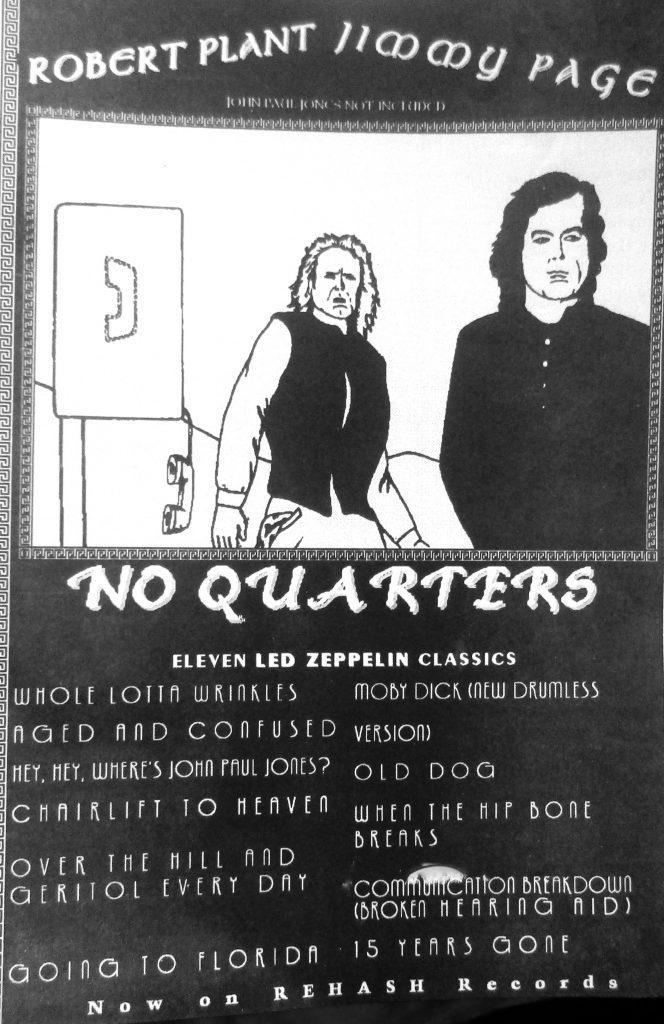 Cartoon No Quarters Robert plant