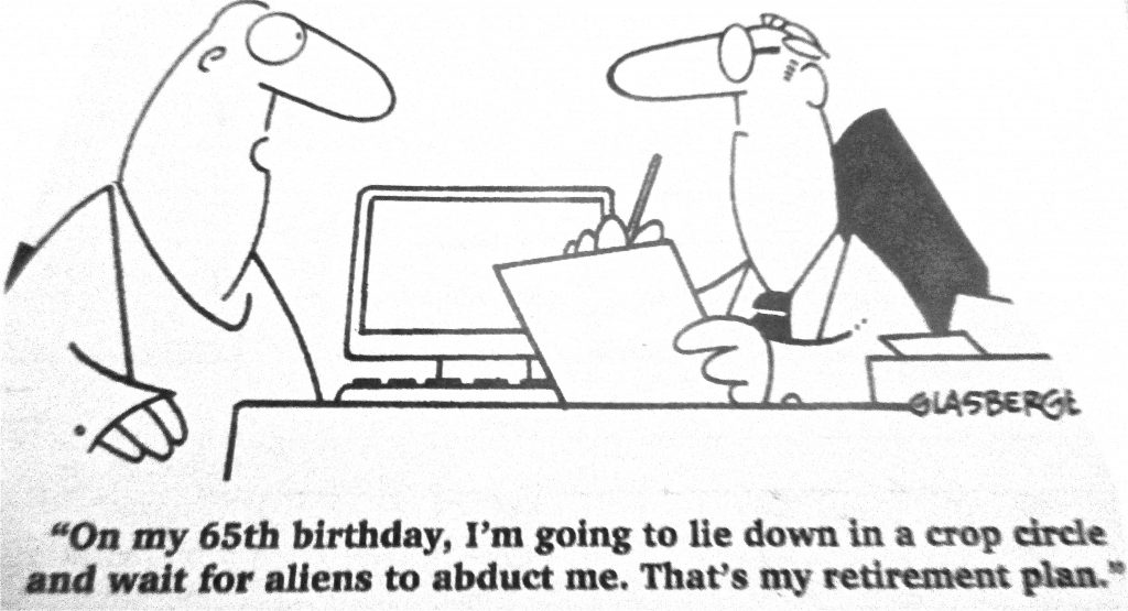 Cartoon On My 65th Birthday I Am Going To Lie Down In A Crop Circle