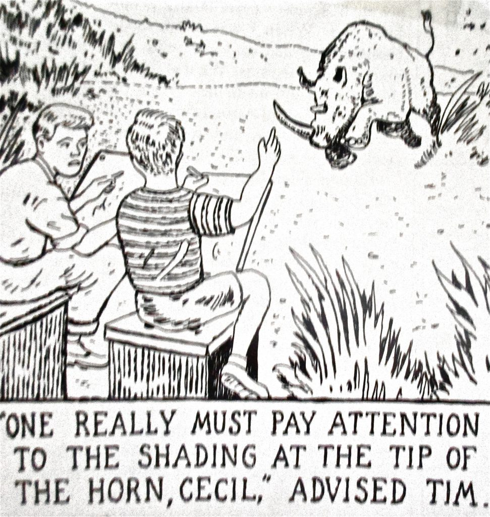 Cartoon One Really Must Play Attention To The Shading At The Tip Of The Horn Cecil Advised Him