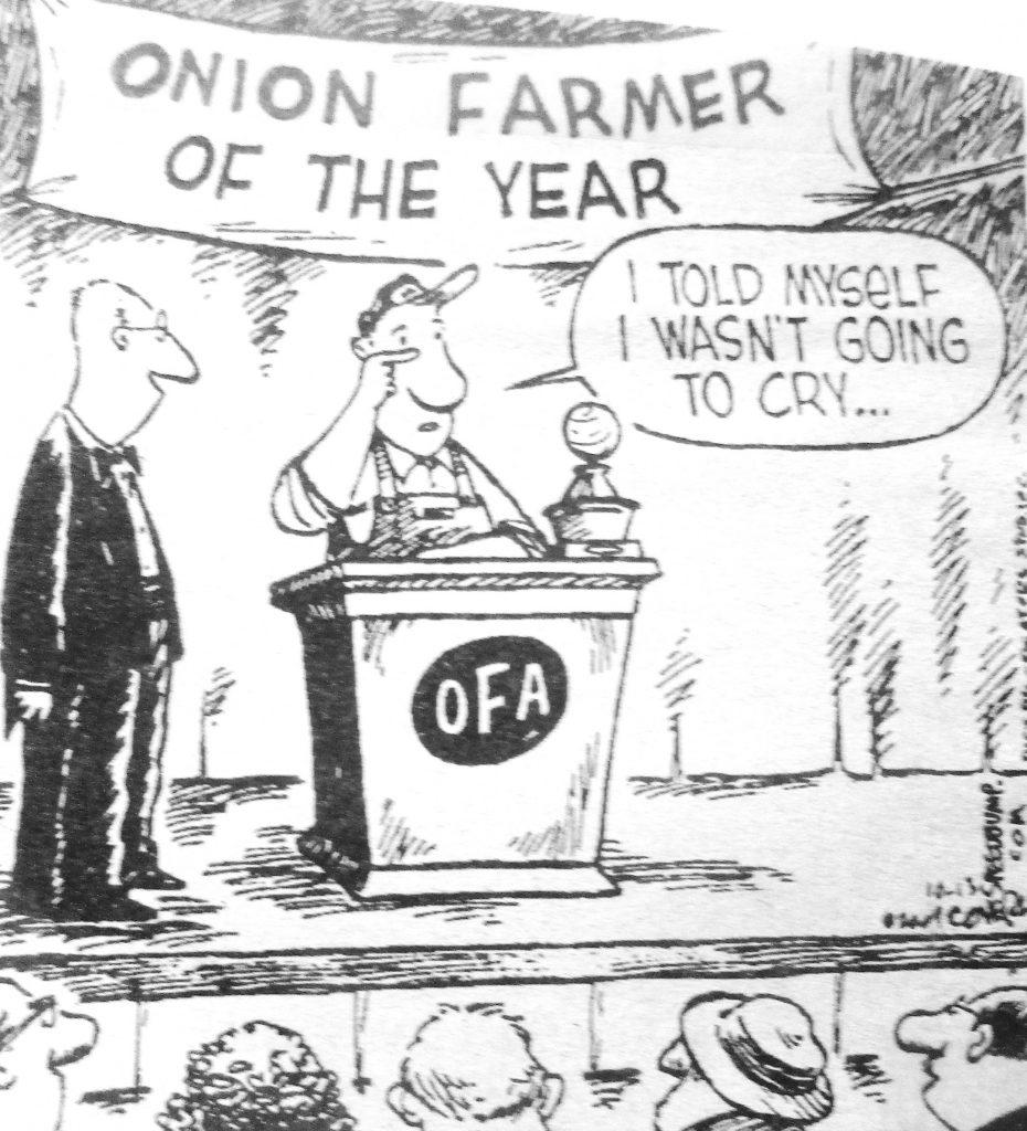Cartoon Onion Farmer Of The Year