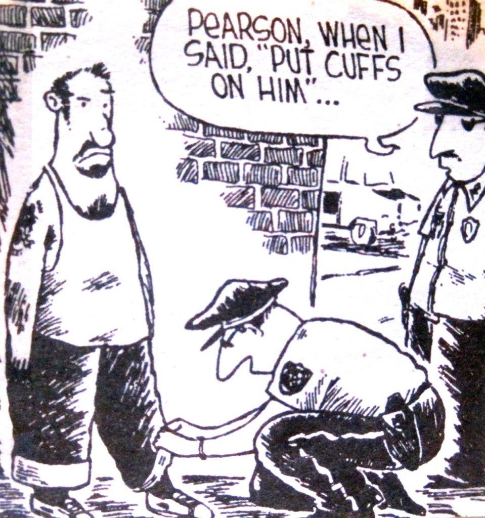 Cartoon Pearsonn When I Said Put Cuffs On Him