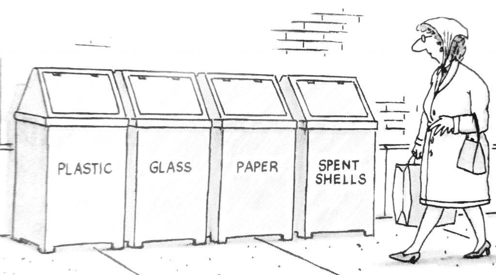 Cartoon Plastic Glass Paper Spent Shells