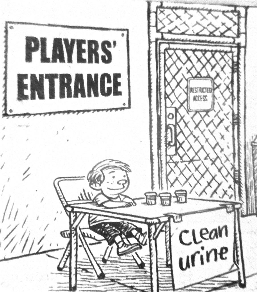 Cartoon Players Entrance Clean Urine
