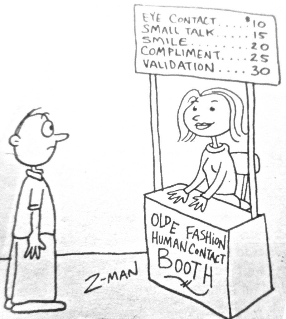 Cartoon Plpe Fashion Human Contact Booth