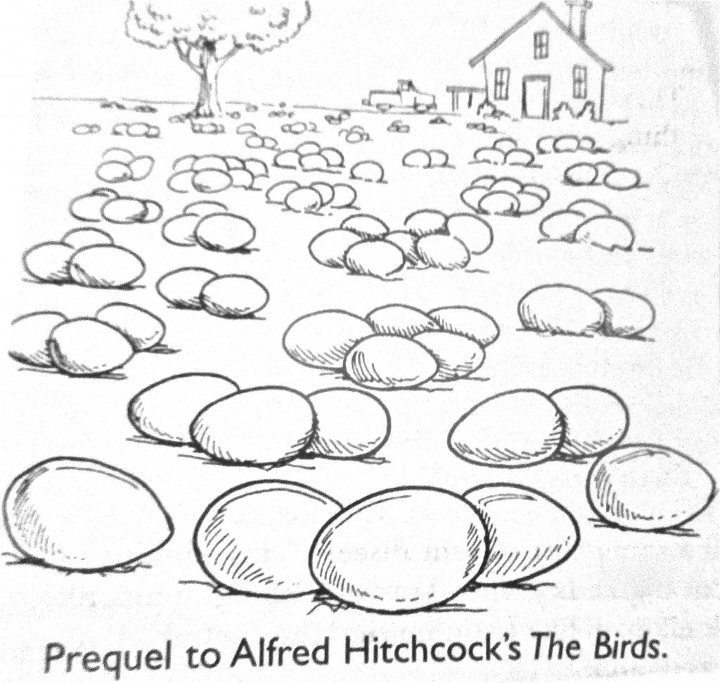 Cartoon Prequel To Alferd Hitchcocks The Birds