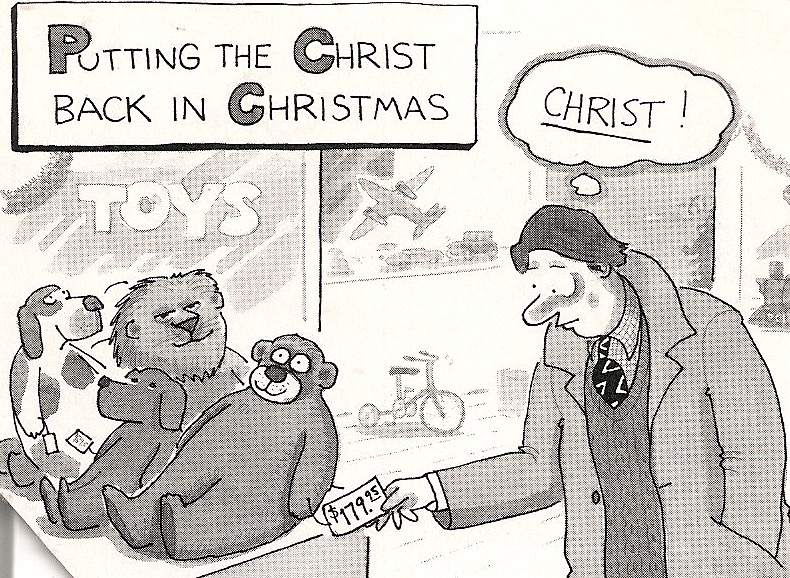 Cartoon Putting The Christ Back In Christmas