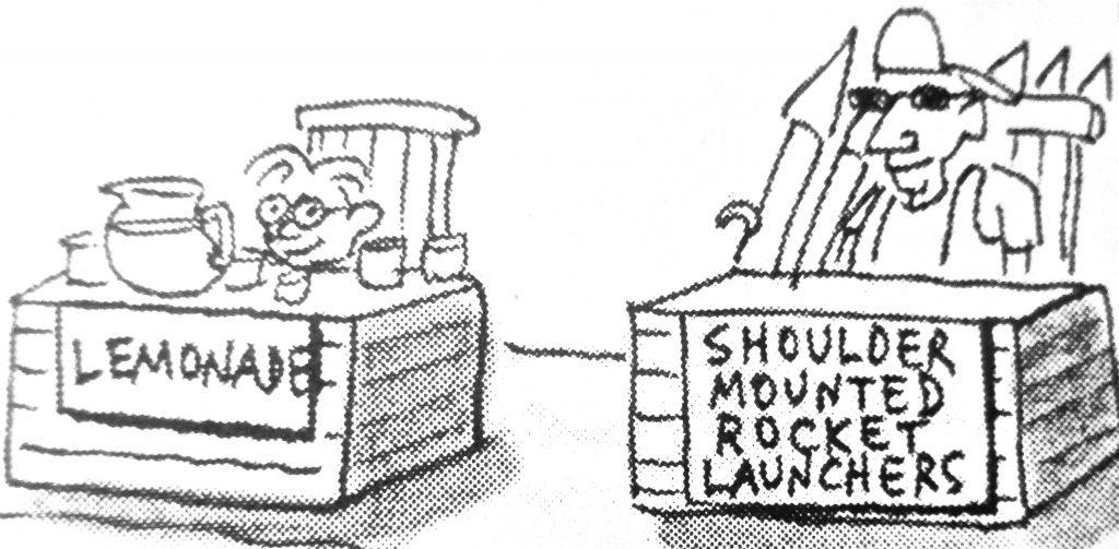 Cartoon Shoulder Mounted Rocket Launchers