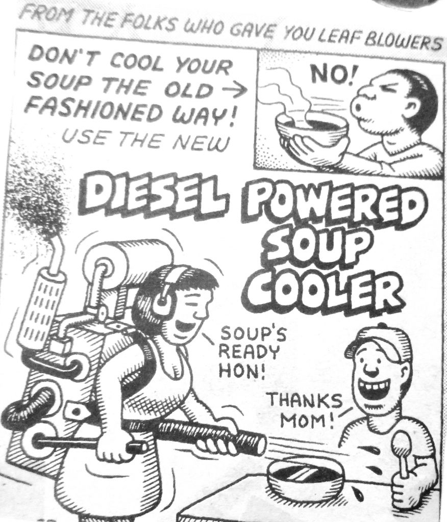 Cartoon Siesel Powered Soup Cooler