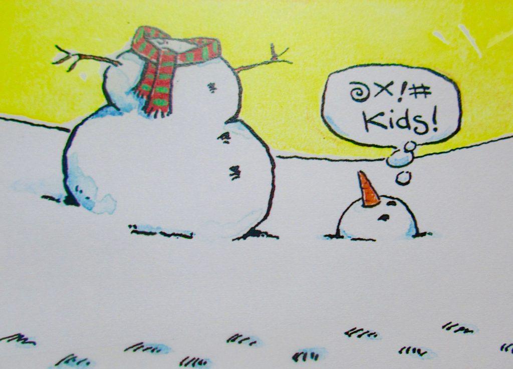 Cartoon Snowman Problems