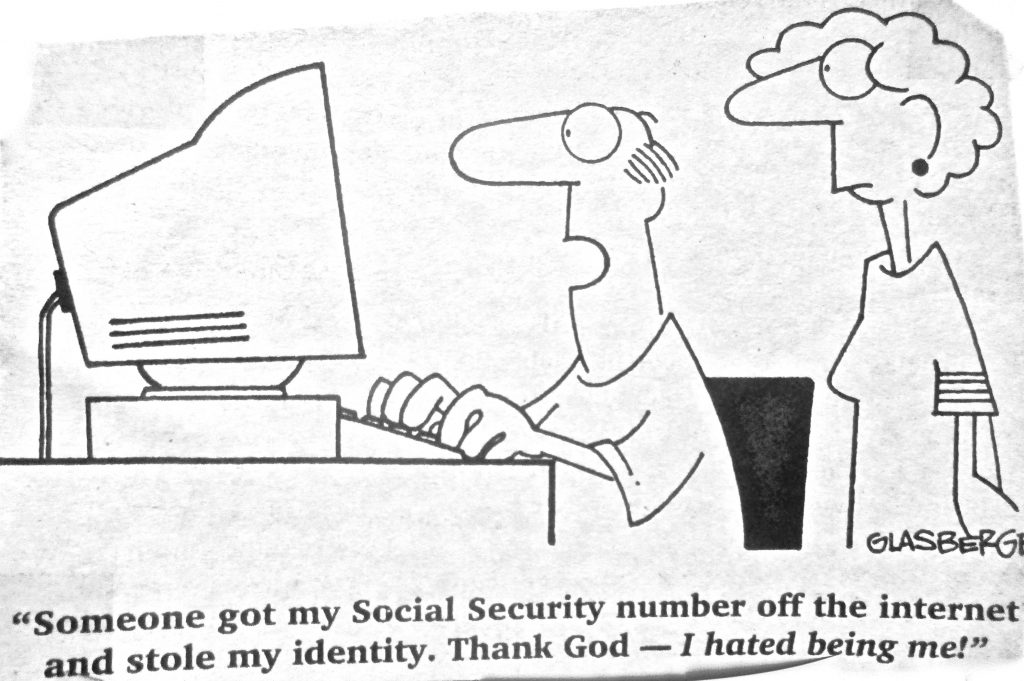 Cartoon Someone Stole My Identity