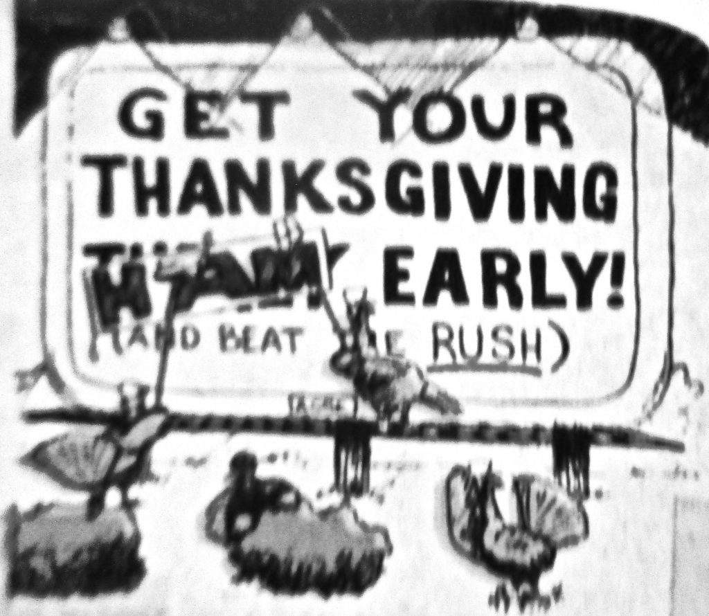 Cartoon Thanksgiving Revolt