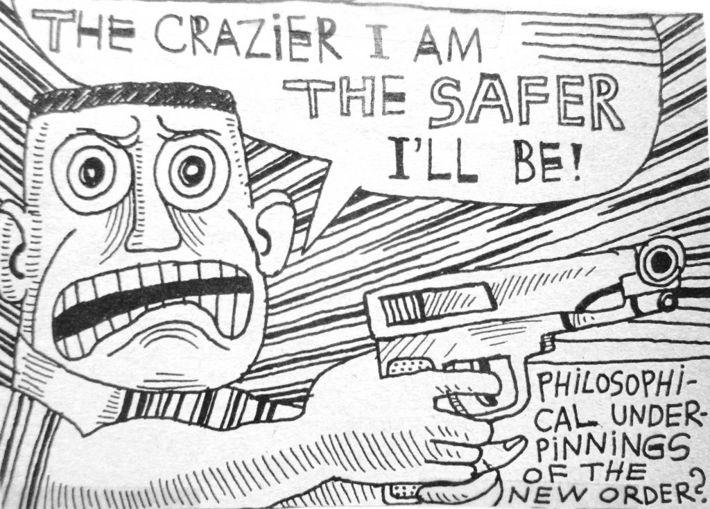 Cartoon The Crazier I Am The Safer I LL Be