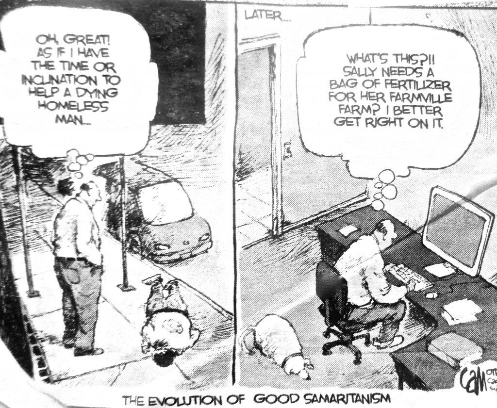 Cartoon The Evolation Good Samartanism
