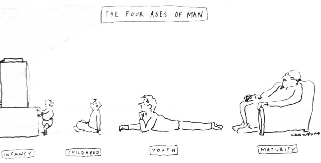 Cartoon The Four Eages Of Man