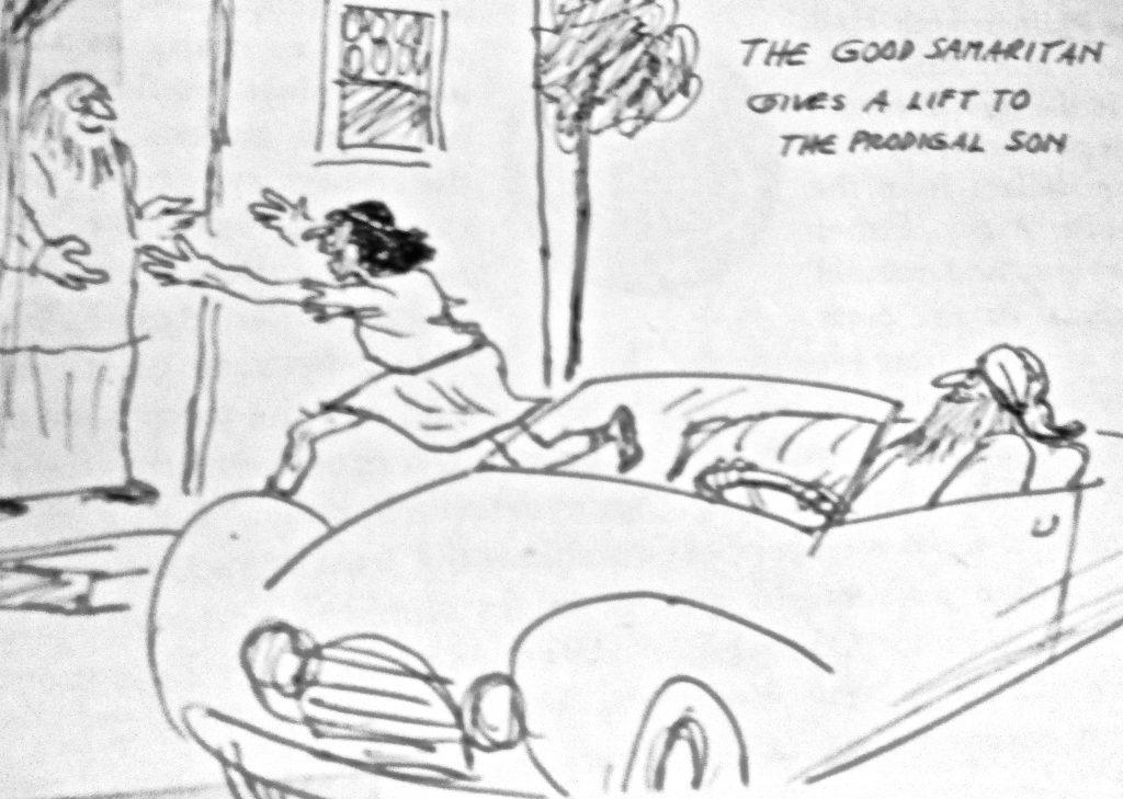 Cartoon The God Samartien A Lift To The Son