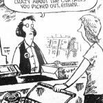 Cartoon – Disapproval At The Checkout Counter