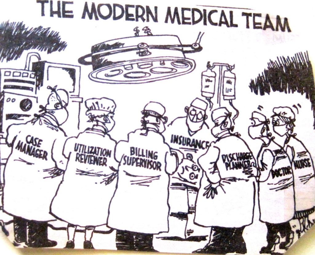Cartoon The Modren Medical Team