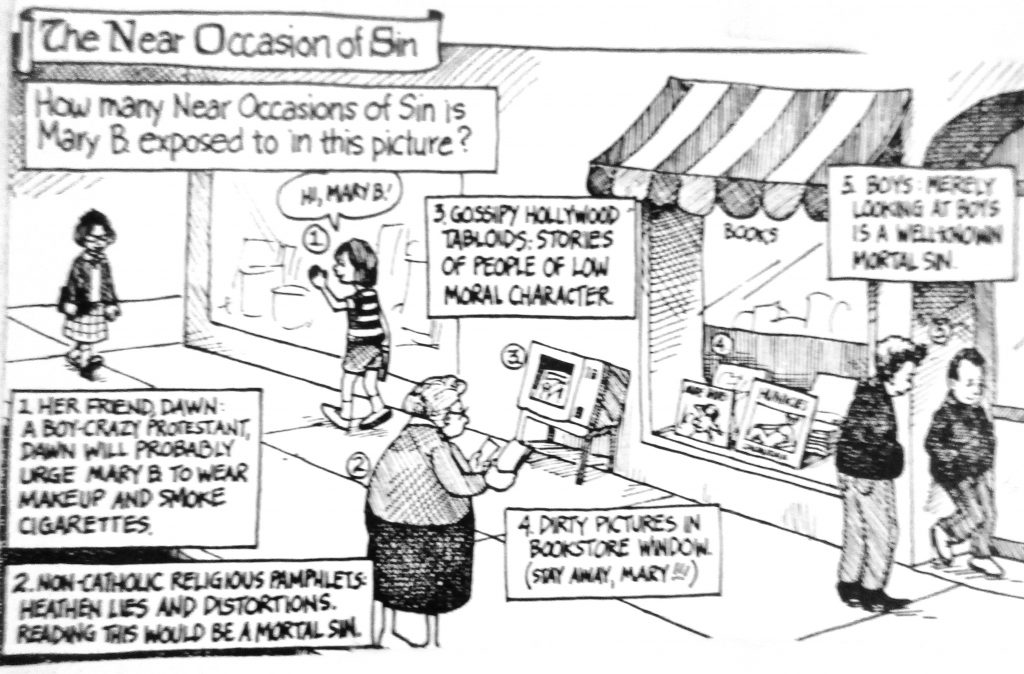 Cartoon The Near Occasion of Sin