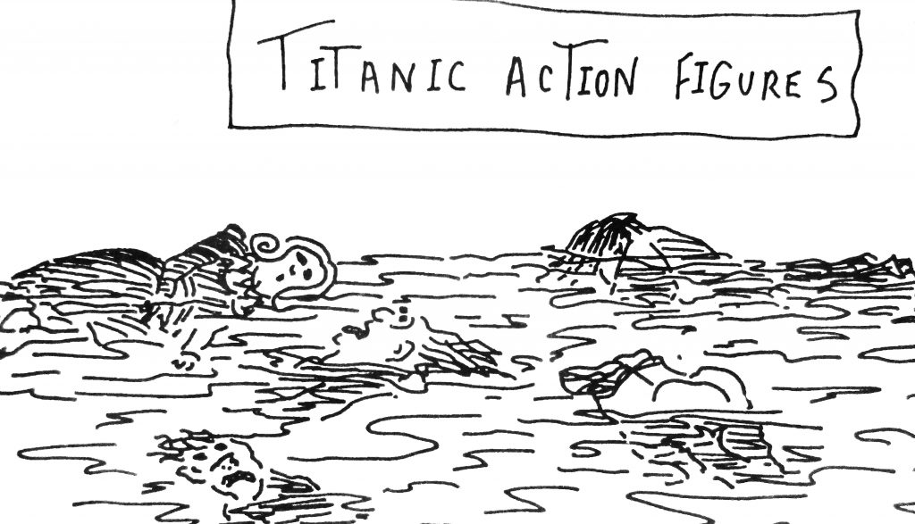 Cartoon Titanic Action Figuars
