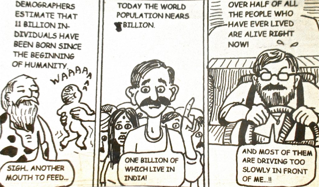 Cartoon Today The Word Population Nears Billion Over Half Of The People Who Have Ever In Lived