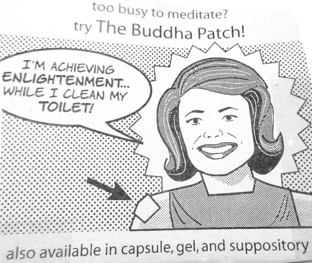 Cartoon Too Busy To Meditate Try The Buddha Patch