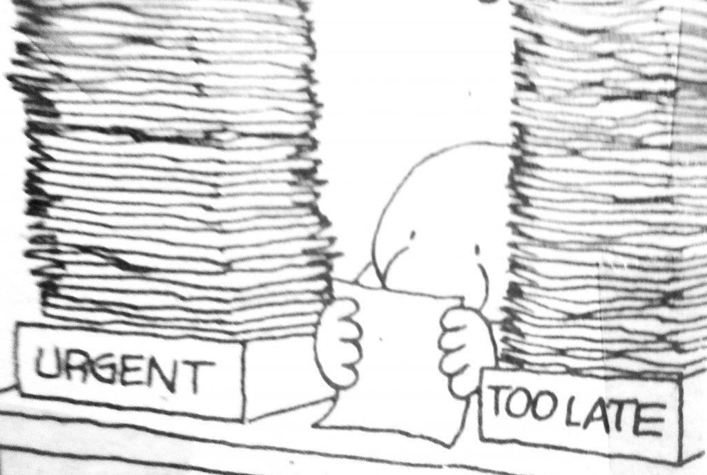 Cartoon Urgent Too Late