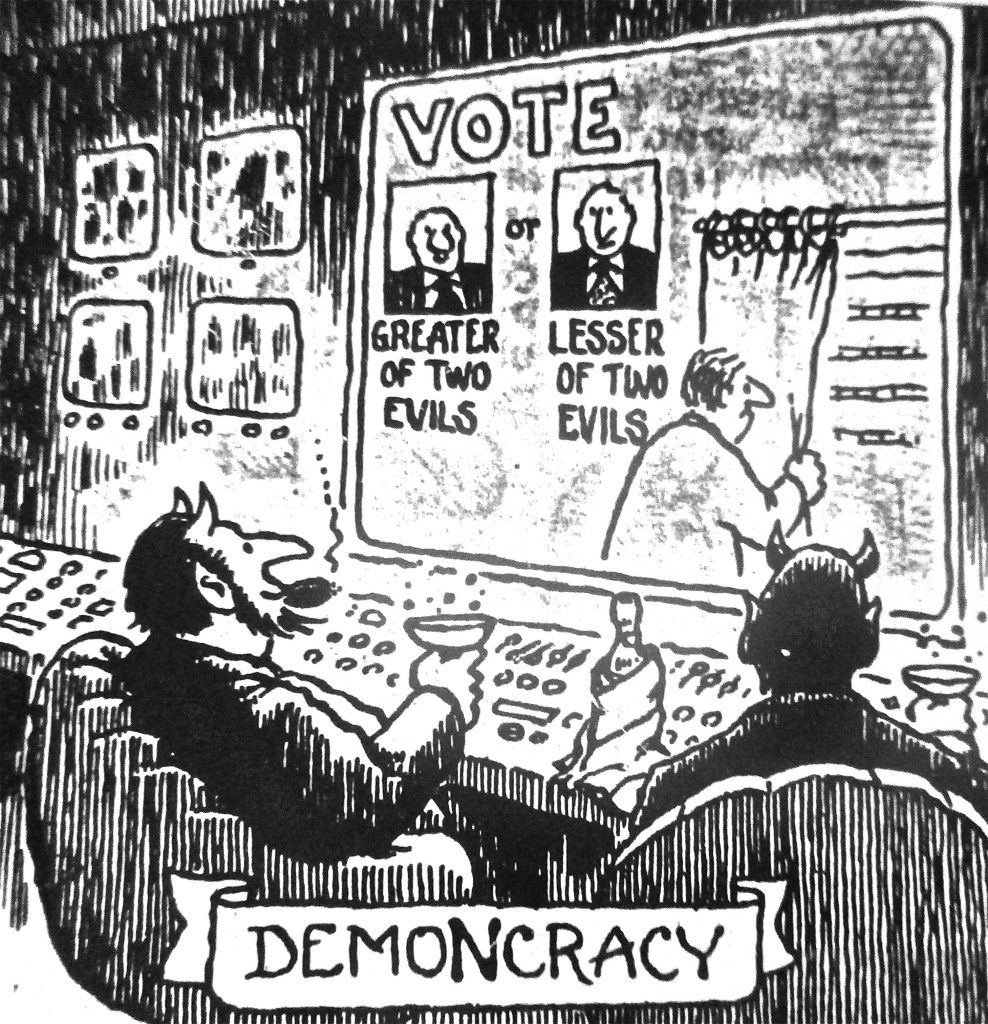 Cartoon Vote Demoncracy