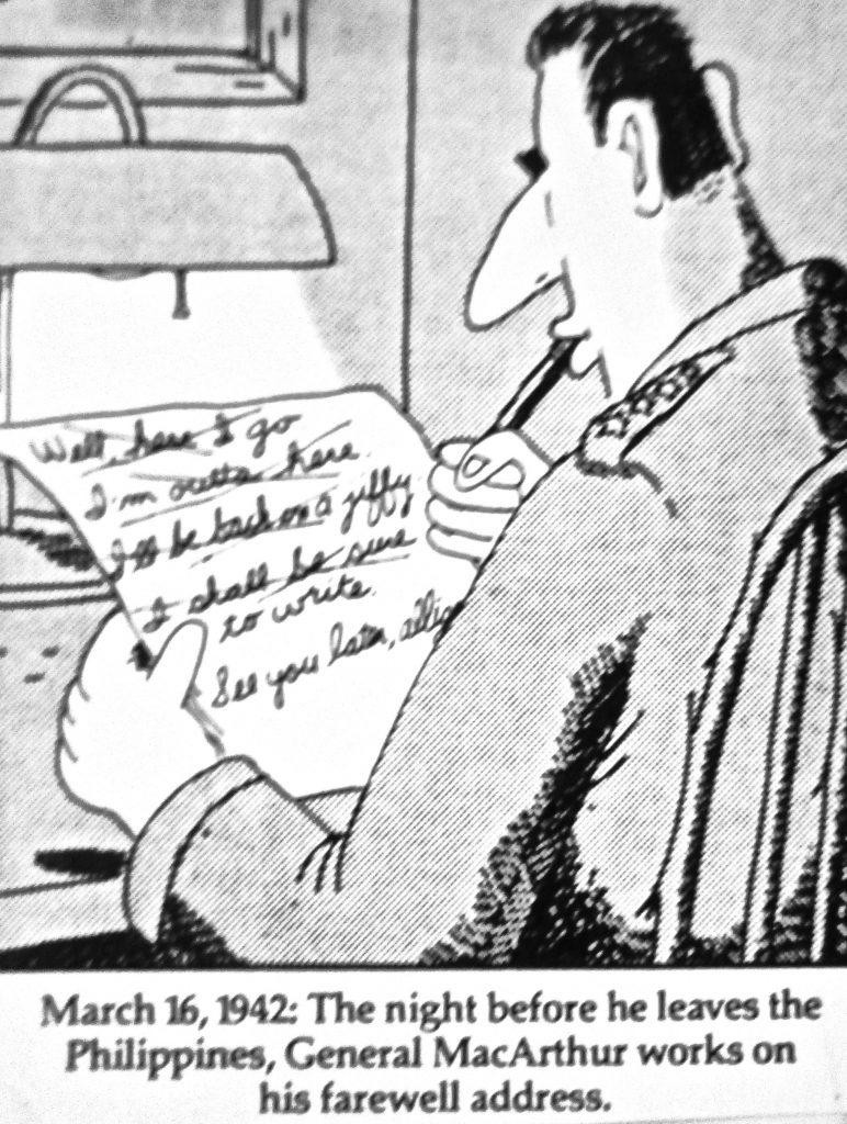 Cartoon WWII Farewell