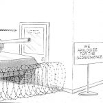 Cartoon – Passive Aggressive Security Checkpoint