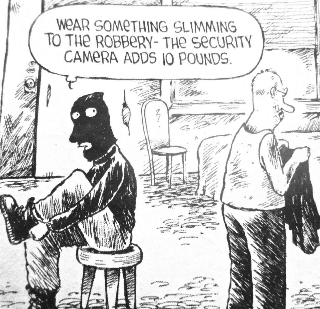 Cartoon Wear Something Slimming To The Robbery The Security Camera Adds 10 Ponds