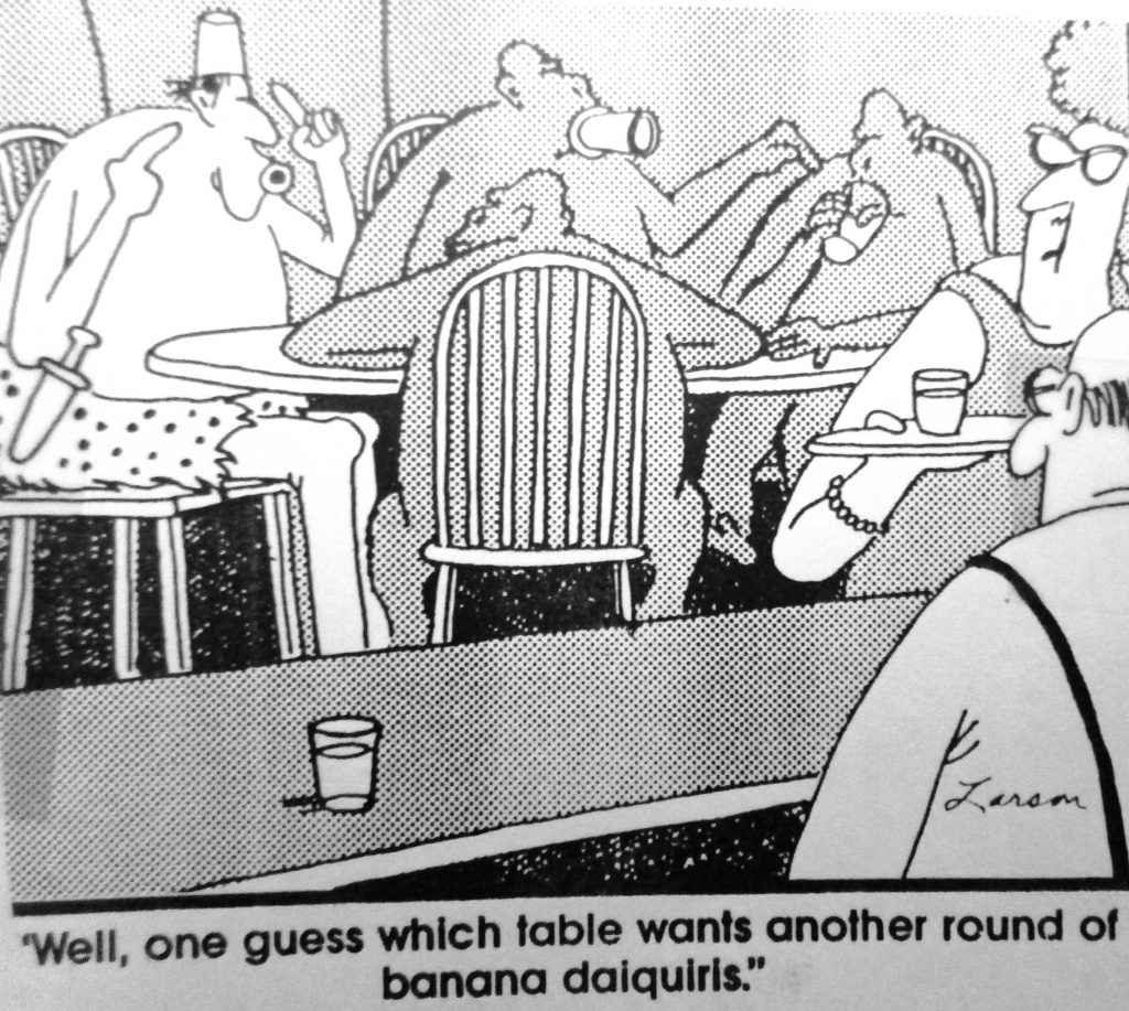 Cartoon Well One Guess Which Table Wants Another Round Of Banana Dalquirls