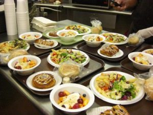 poor and elderly - soup kitchen meals