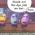 Cartoon – Three Easter Eggs Walk Into A Bar