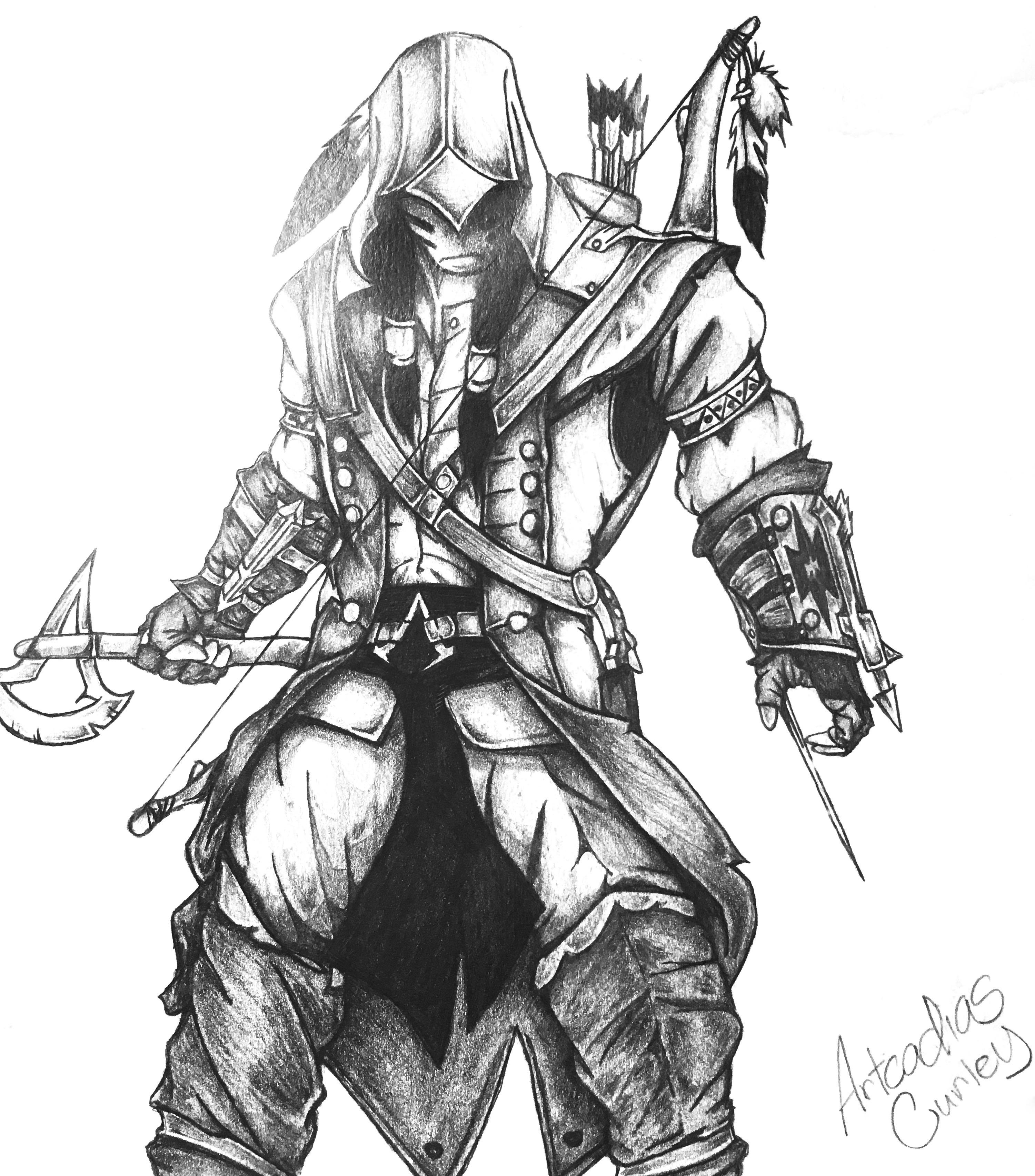 Warrior Art Sketch by Artcadius Curley 01