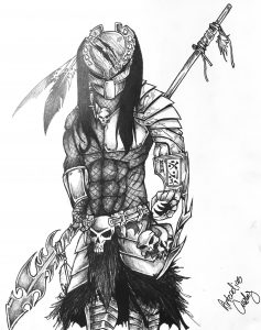 Warrior Art Sketch by Artcadius Curley 02